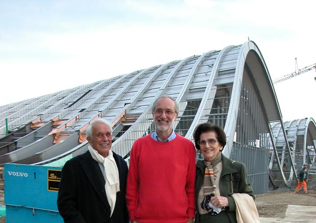 Maurice E. Müller, Renzo Piano, Martha Müller-Lüthi -