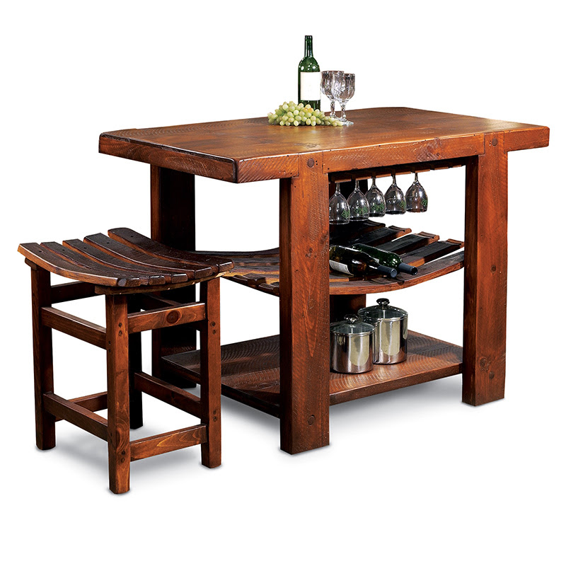 Recycled Barrel Stave Tasting Table 16814 Iwa Wine