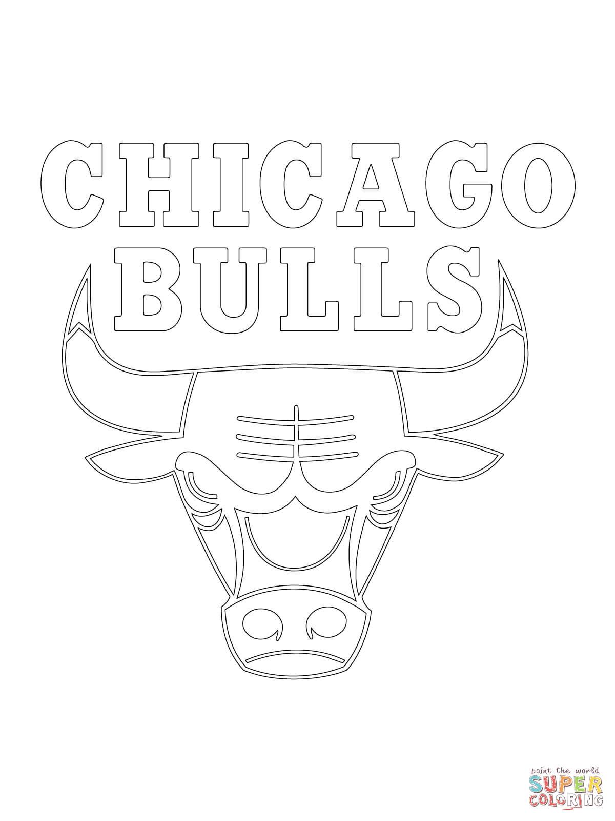 Bulls de Chicago coloriages pour visualiser la version imprimable ou colorier en ligne patible avec les tablettes iPad et Android