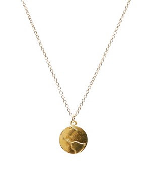 Dogeared Gold Dipped Wonderful World Necklace