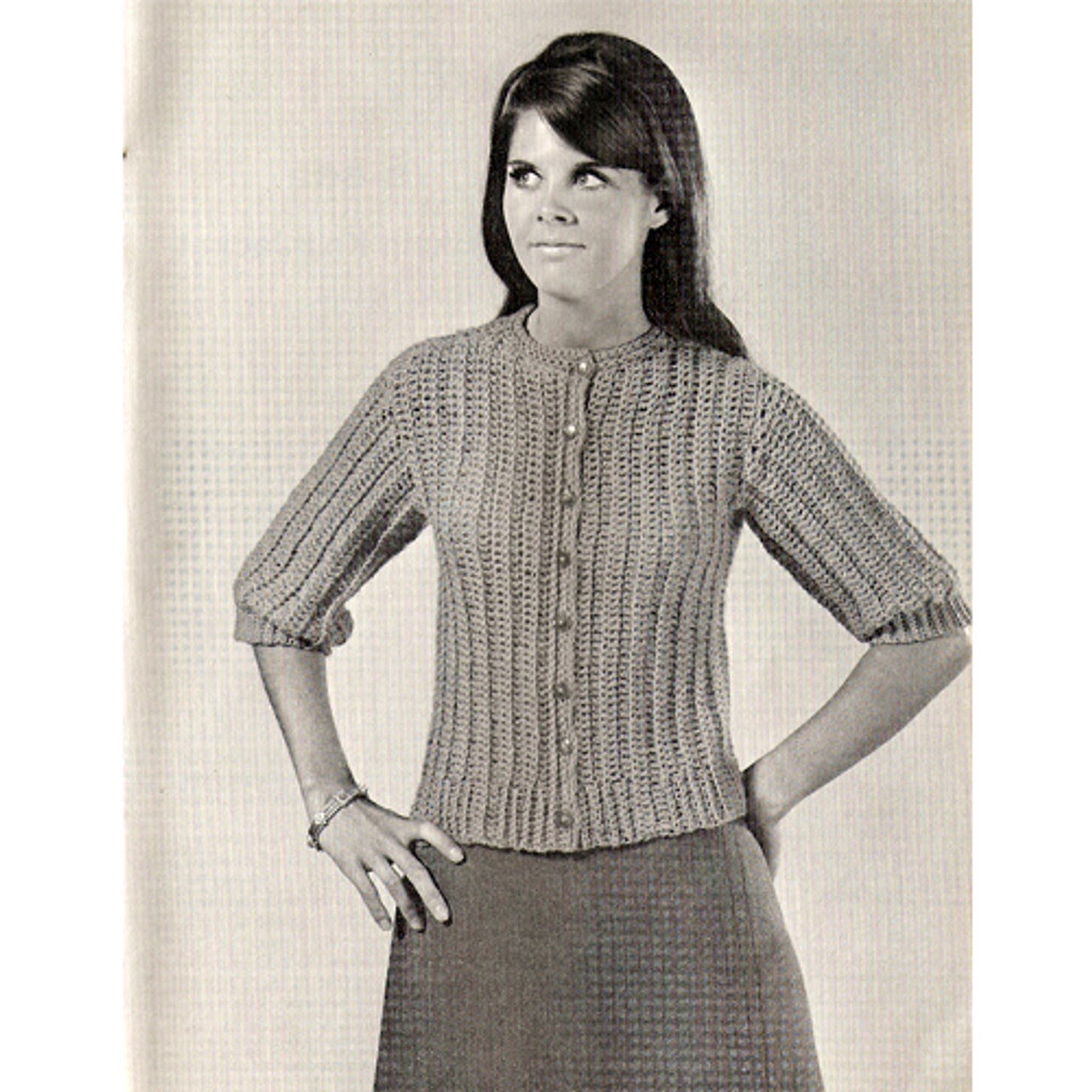 Short Sleeve Crochet Cardigan Pattern, Beginners