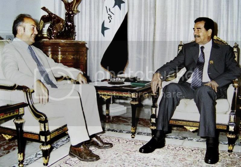 Galloway with Saddam