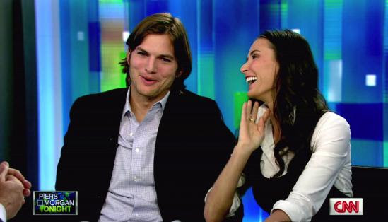 Ashton Kutcher and Demi Moore on Piers Morgan Tonight