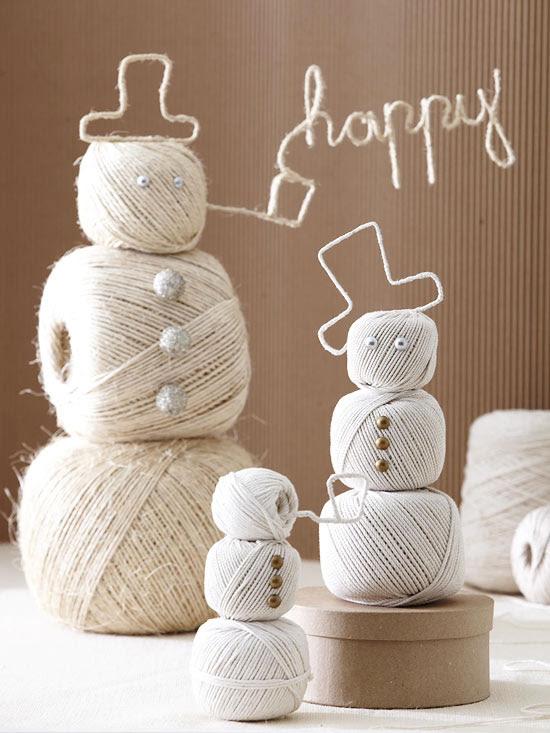 Festive Twine Snowmen