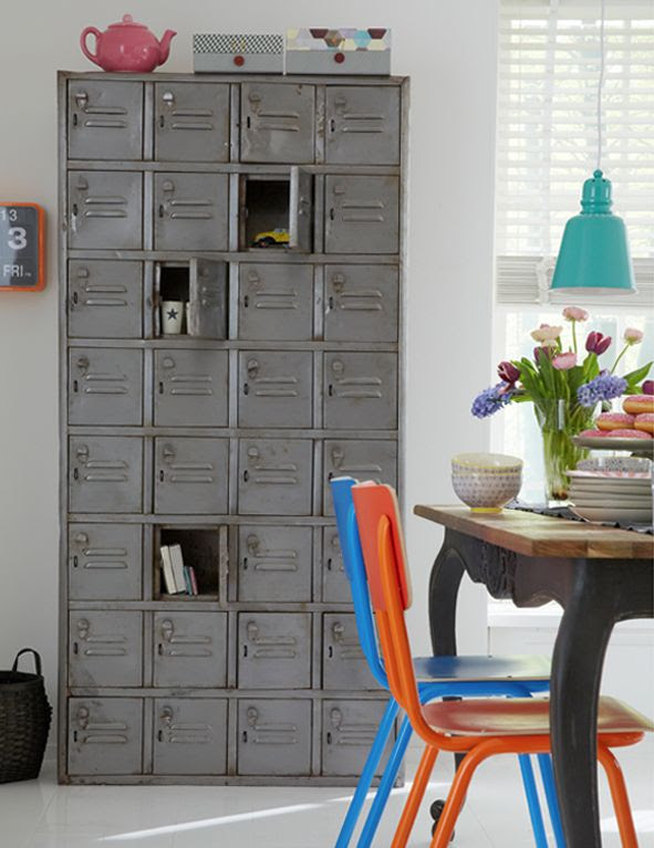 6th Street Design School: Using Lockers in Your Decor