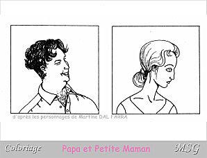 Le Coin Des Petits Coloriage Papa Et Petite Maman Margarethstgildas