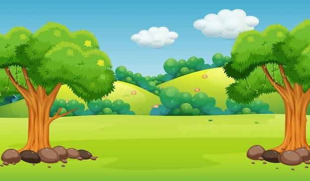Gambar Pemandangan Kartun Anak Paimin Gambar