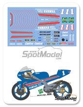 Calcas 1/12 Shunko Models - Yamaha TZ250M Castrol - Nº 1 - Tetsuya Harada 1994 para kit de Tamiya