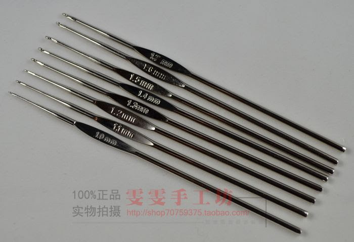 http://pl.aliexpress.com/item/8-pc-set-Knitted-tools-Stainless-Crochet-leptonema-practice-hook-lace-metal-hook-needle-silvery-white/2021382714.html?spm=2114.010208.3.111.kZM4Pv&ws_ab_test=searchweb201556_7,searchweb201602_4_10037_10017_405_507_10032,searchweb201603_10&btsid=2c52a0a9-c63a-4b93-be18-76ada62503d6