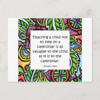 Compassion is taught post cards