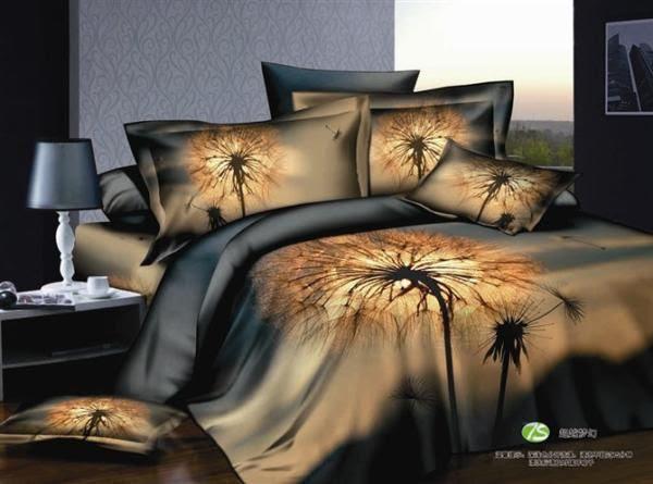 Cheap Pillow Case - Best 3d Dandelion Bedding Set Blue Brown Queen ...