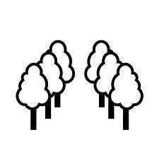街路樹シルエット イラストの無料ダウンロードサイトシルエットac