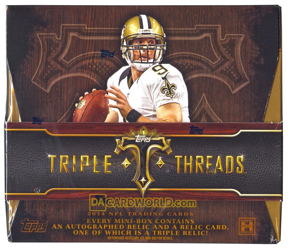2014 Topps Triple Threads Football Hobby Box  DA Card World