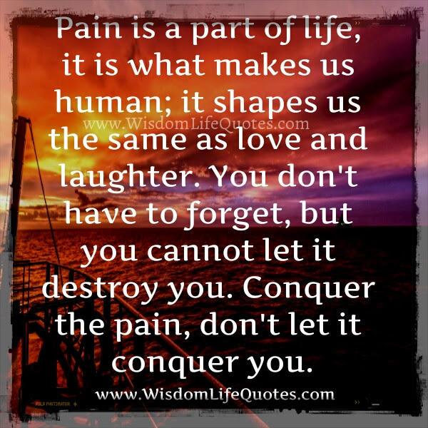Dont Let The Pain Conquer You Wisdom Life Quotes