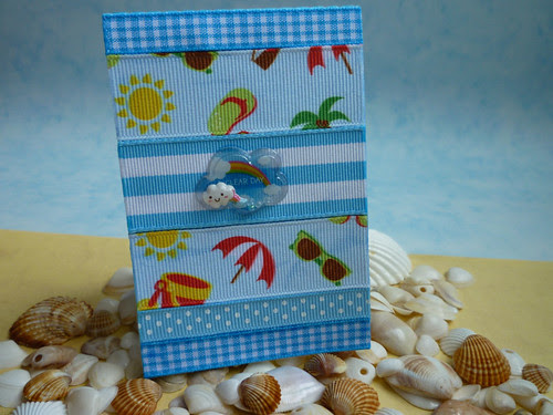 mini beach ribbon notebook