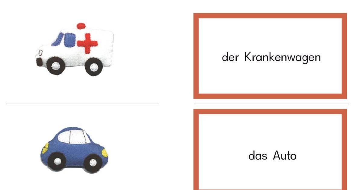 Fahrzeuge Auf Pappe Drucken Kostenlos - Basteln mit