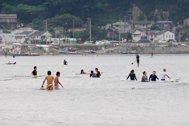 Saturday morning at Kamakura beach