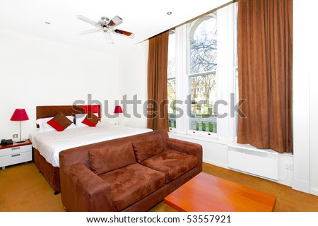 Small Cozy Studio Apartment With Magnificent View Stock Photo ...