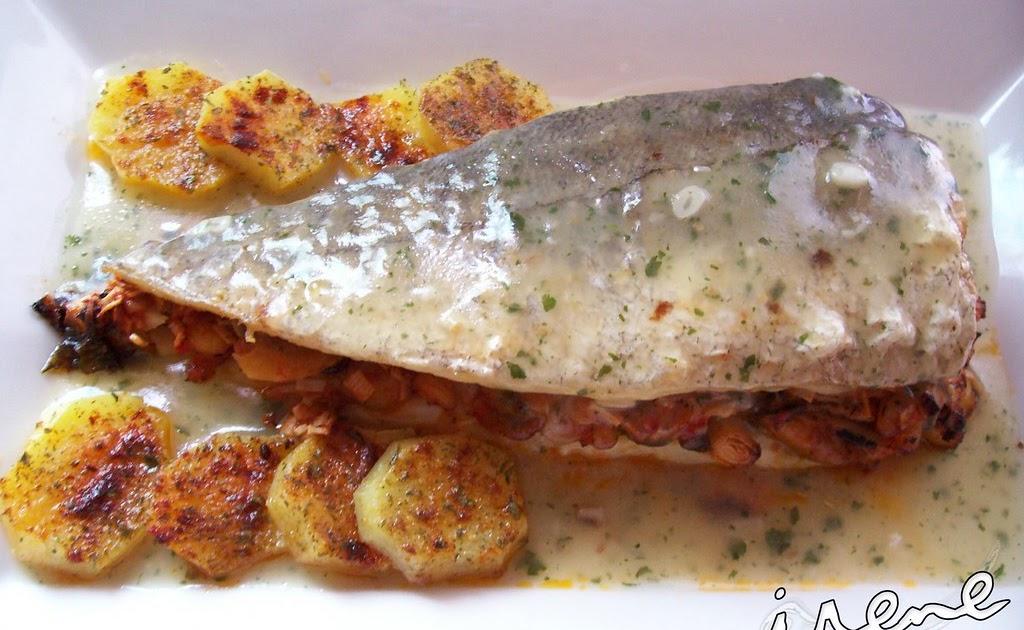 La cocina casera de irene merluza rellena de marisco con for La cocina casera
