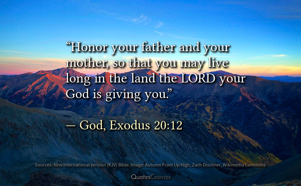 Exodus 2012 Honor Your Father And Mother Translation Meaning