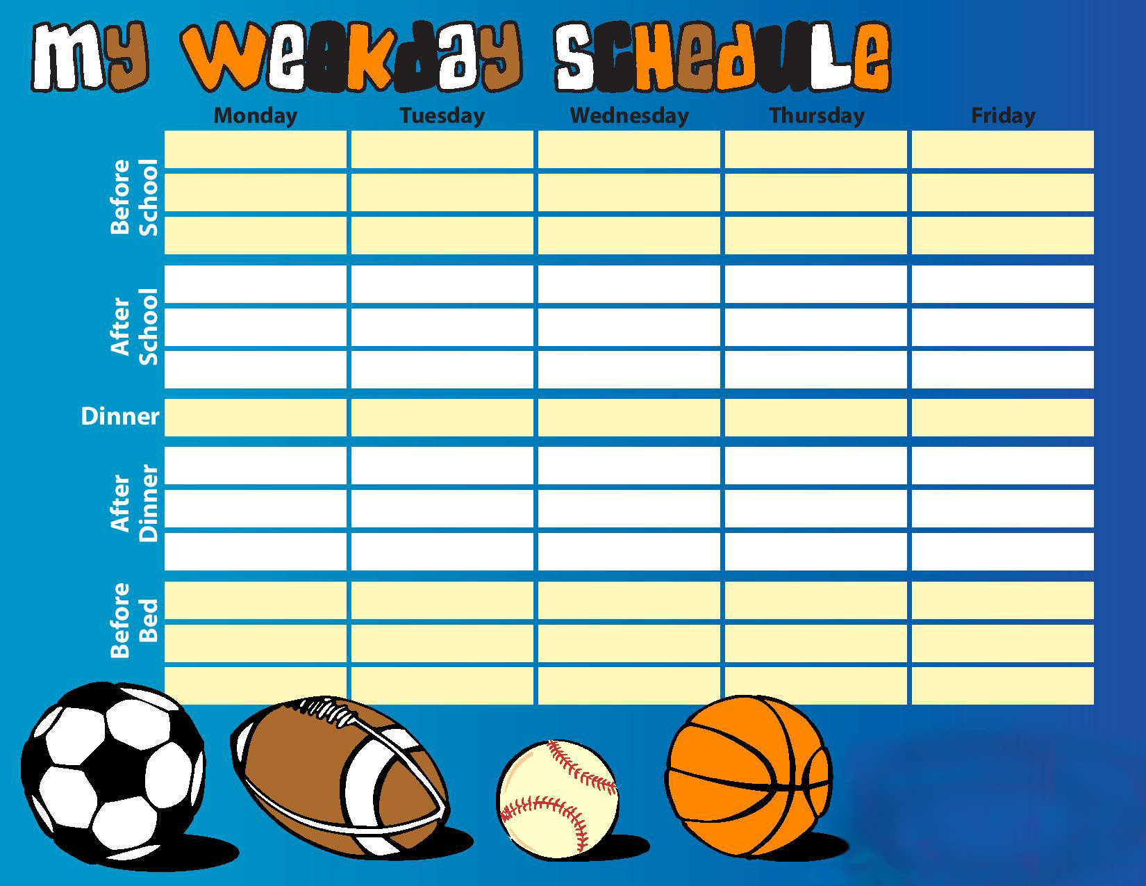 Daily Schedule Kids | Daily Planner