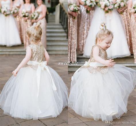 Lovely Ball Gown Wedding Flower Girl Dresses Sparkly Rose
