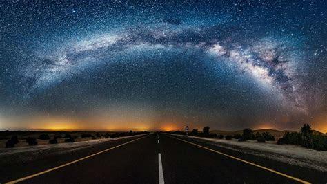 night sky starry night road wallpapers hd desktop
