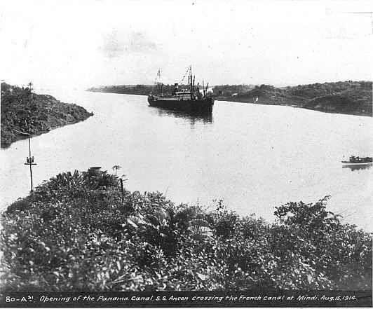 Panama Canal Construction Historic Photo - Panama Canal Opening 1914