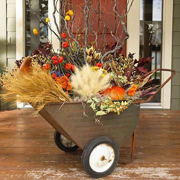 Queda wheelbarrow exibição