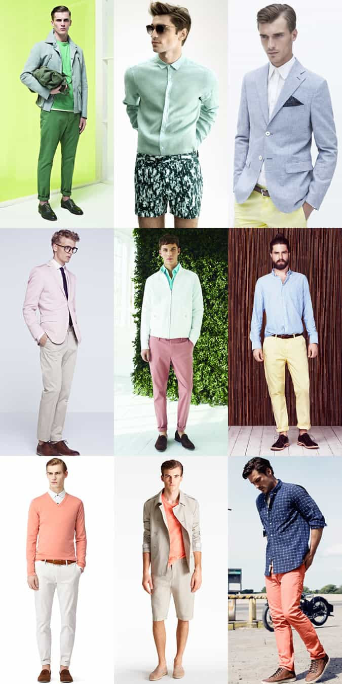 Men's Pastel Colours Spring/Summer Lookbook
