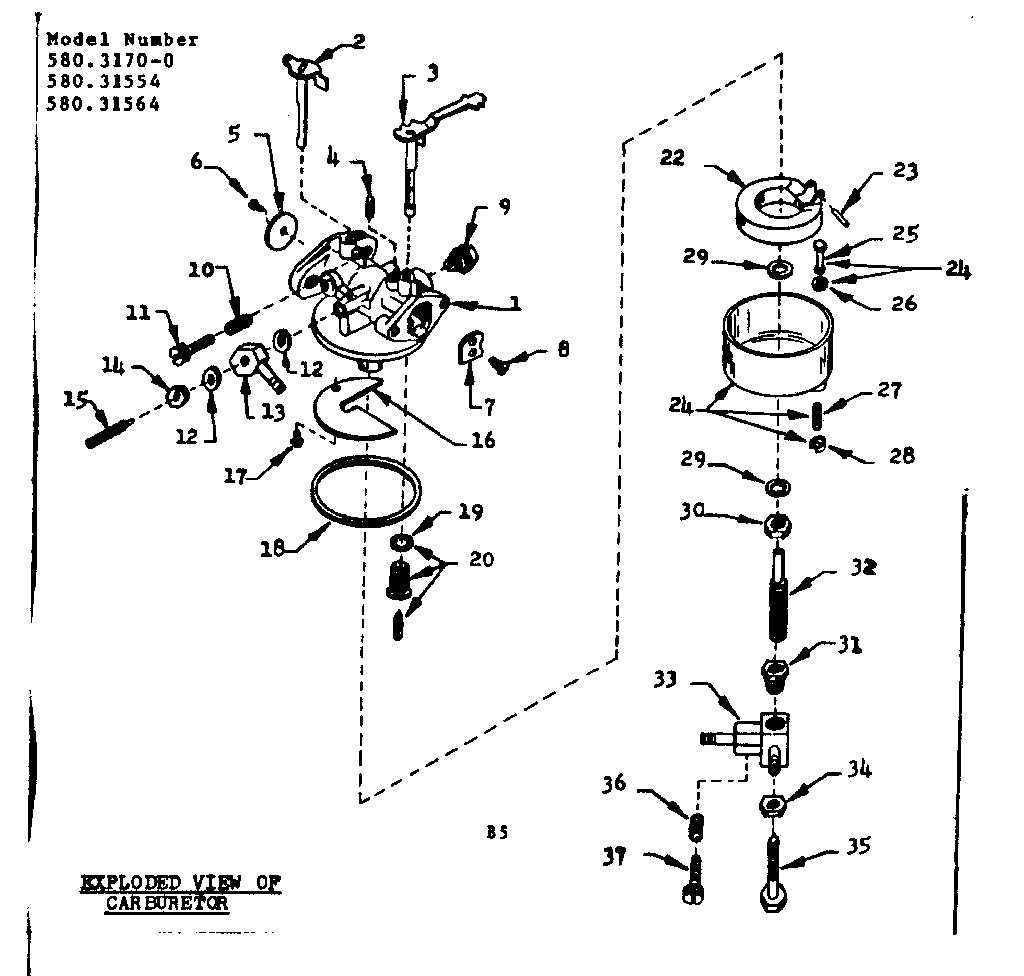 Craftsman Lt1000 Carburetor Diagram