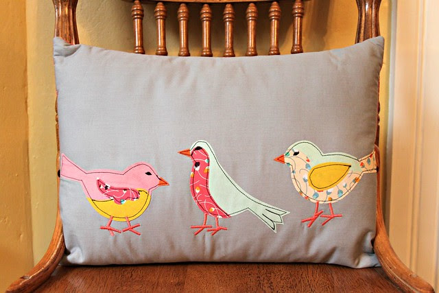 Three Little Birds Pillow