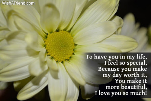 To Have You In My Life I Love Message