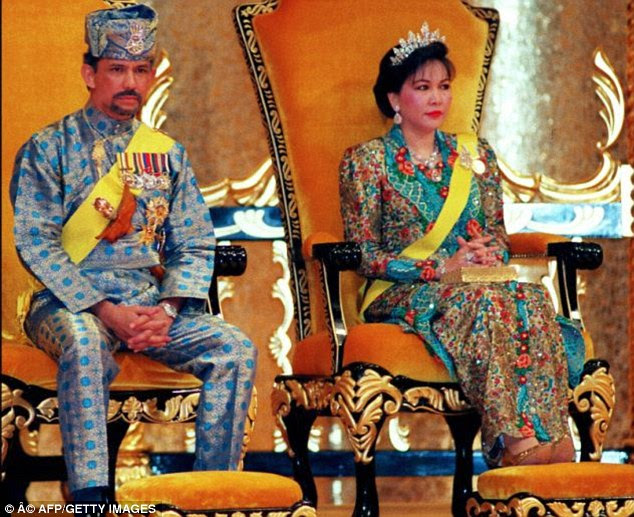 Lim, a former bodyguard to Mariam Aziz, right, the ex-wife of the Sultan of Brunei, left, is said to have duped the couple's daughter into letting her 'borrow' the diamonds, before selling them and replacing them with near-worthless replicas