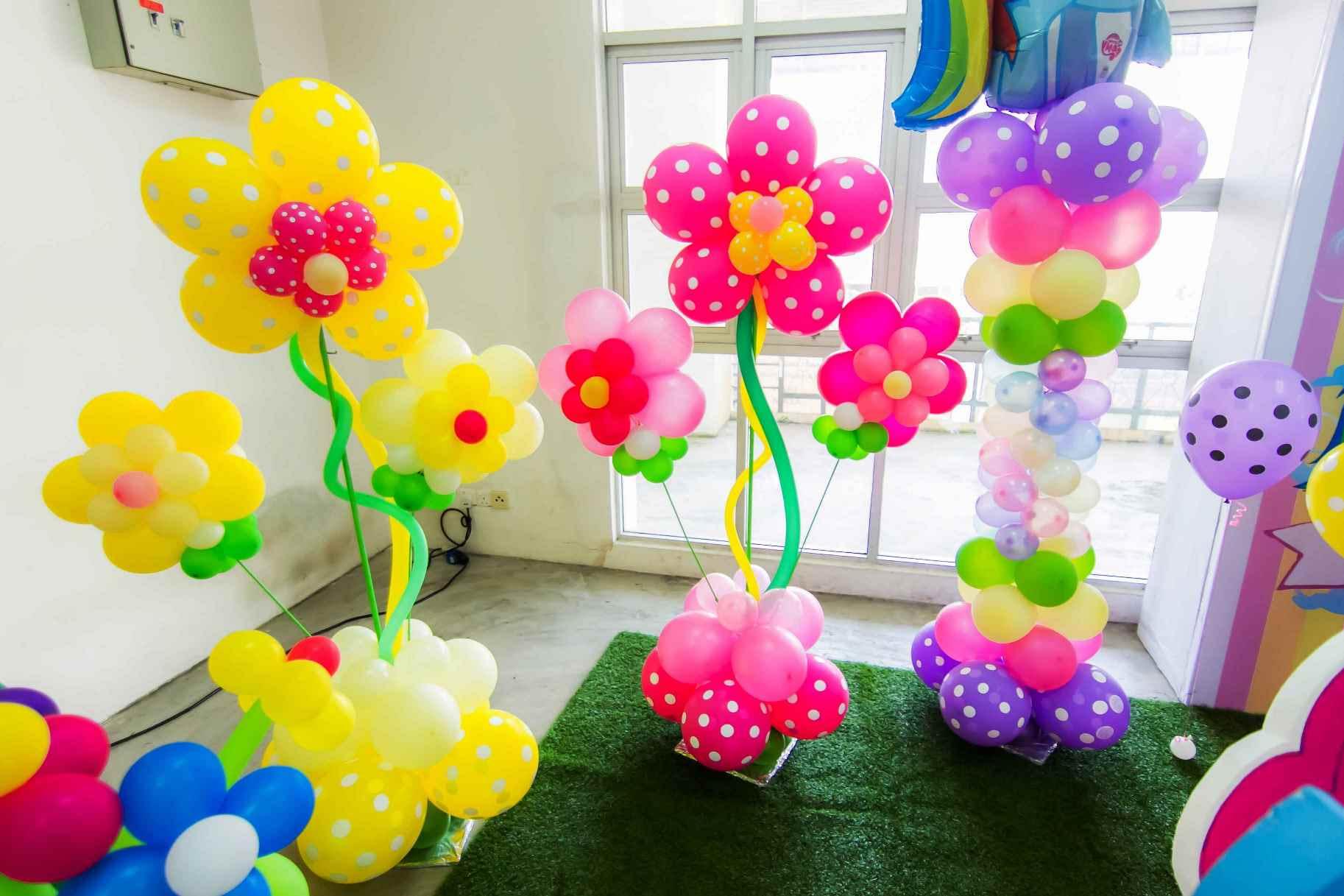 dekorasi balon ulang tahun anak tema my little pony