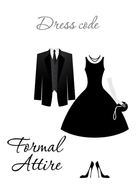 Formal Attire   Dress Code   DRESS CODE CLIPART in 2019