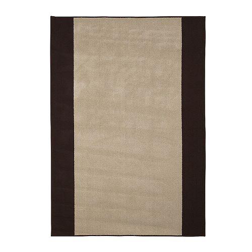 """KARBY Rug, flatwoven beige, brown Length: 6 ' 3 """" Width: 4 ' 4 """"  Length: 190 cm Width: 133 cm"""