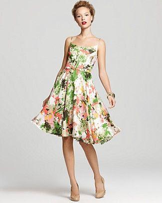 Milly Bridget Circle Skirt Dress