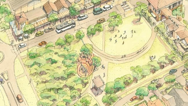 An artists impression of the first two stages of a Claymore renewal project. Impression: