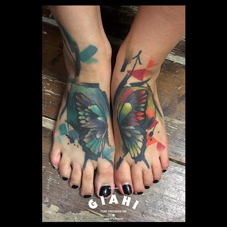 Butterfly Feet Tattoo Best Tattoo Ideas Gallery