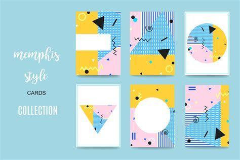 Memphis Style Cards ~ Card Templates ~ Creative Market