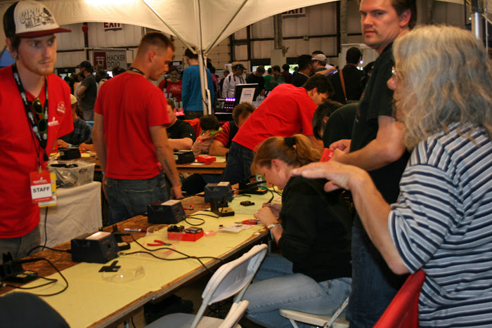 Maker Faire Soldering
