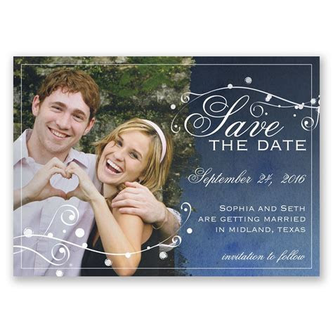 Stargazing Save the Date Magnet   Invitations By Dawn