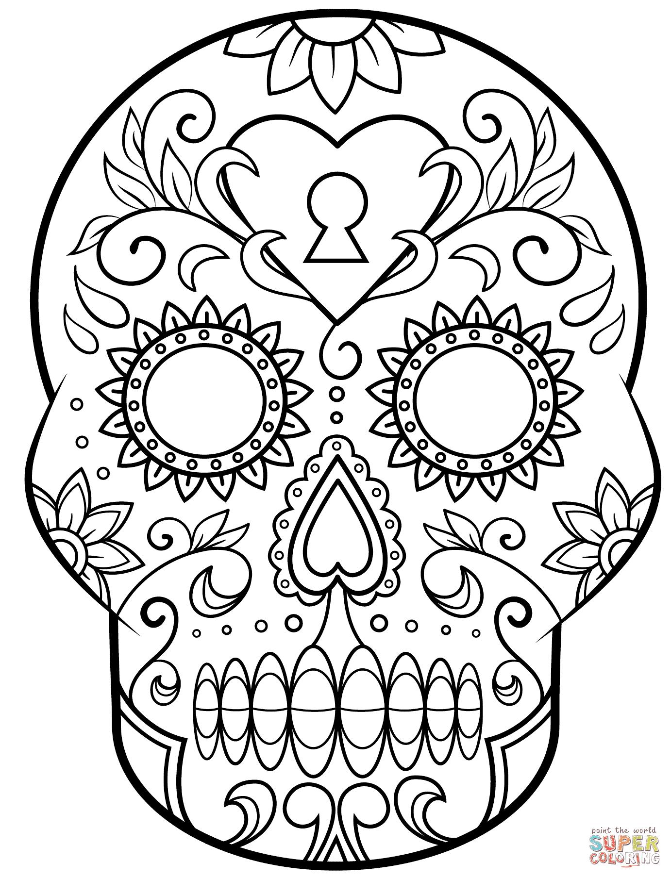 5300 Top Coloring Pages For Adults Sugar Skulls For Free