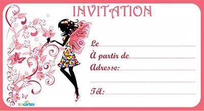 Invitation D Anniversaire Gratuite à Imprimer Pour Fille, Cartes... | Idées D'anniversaire
