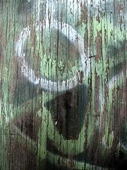 grafitti on wood green