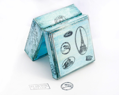 "Paris Vintage Wooden Box. Boxes, Treasury  Box ,  Jewelry box , distressed box , vintage 3 1/2 x 3 1/2 x 2 "" - 9 x 9 x4,5 cm - MyHouseOfDreams"