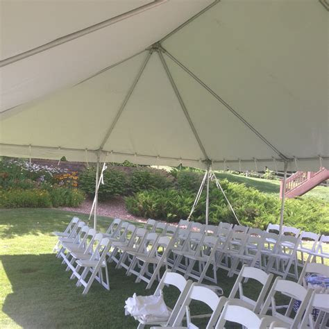 Wedding Ceremony under a Tent   Rent Today!   G & K Event