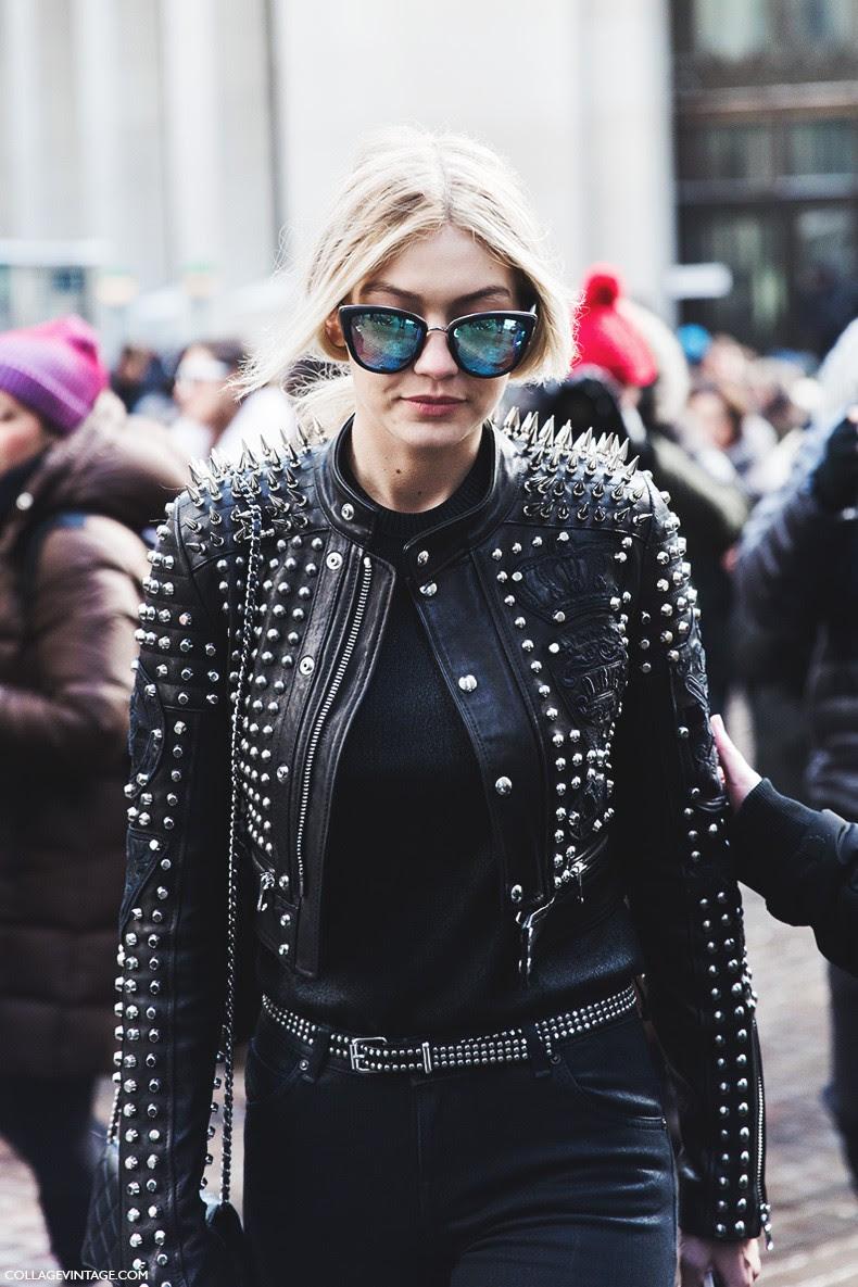 New_York_Fashion_Week-Fall_Winter_2015-Street_Style-NYFW-Studded_Leather_Jacket-Diesel-Gigi-