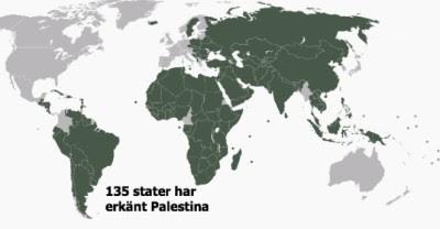 Vem har erkänt Palestina
